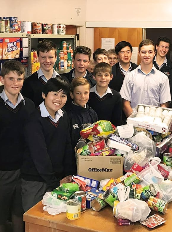 Hutt International Boys donating good for Christmas December 2016-resource