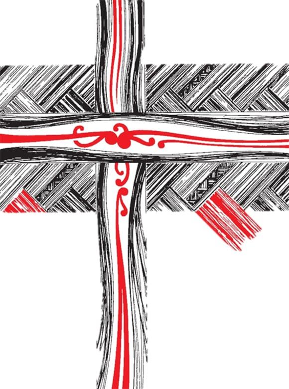 Anglican+flax+cross
