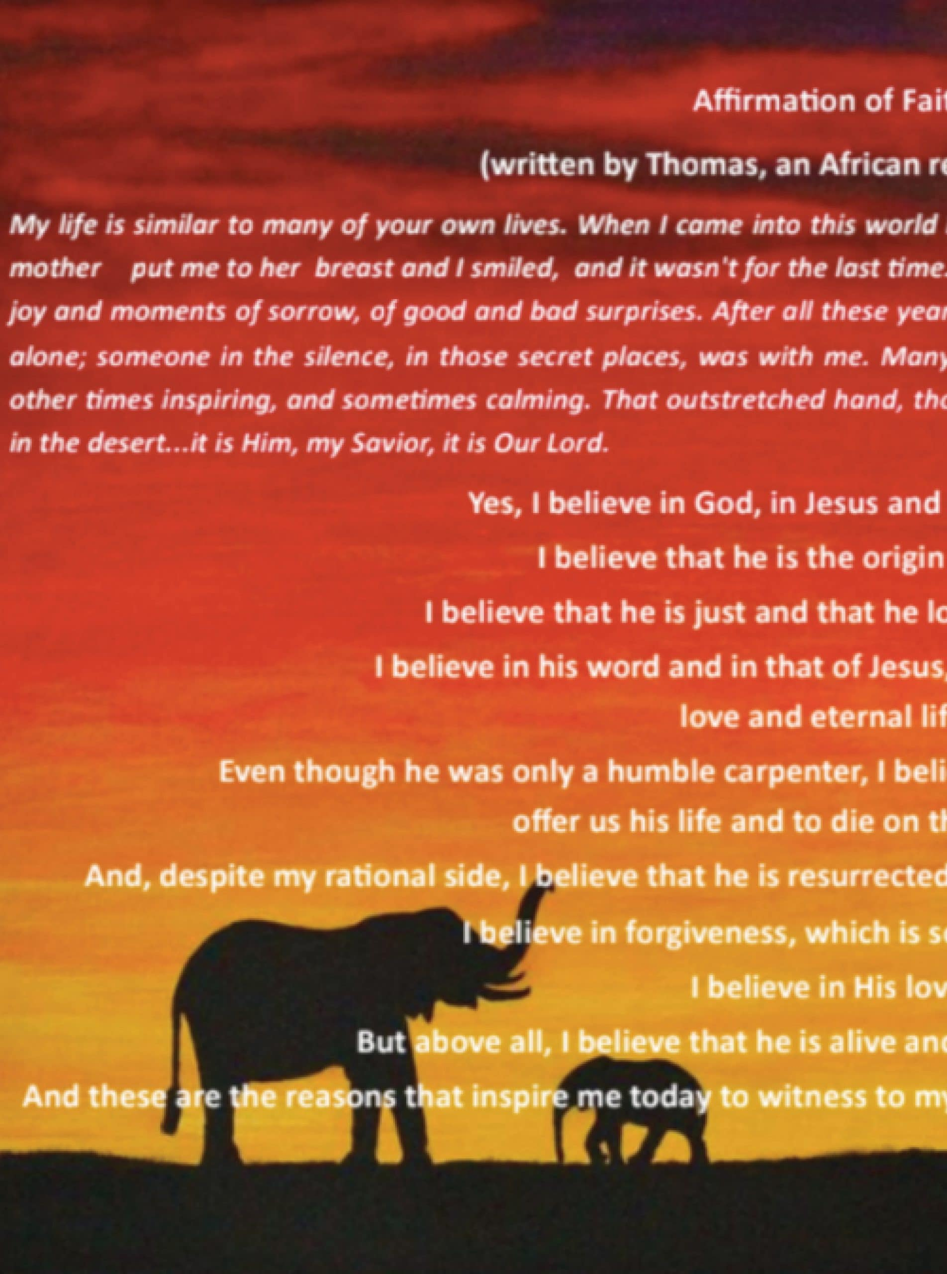 African Affirmation of Faith